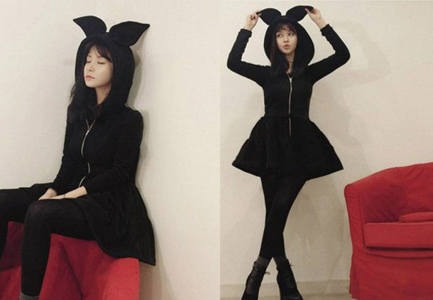 Sweater Winter Outfits Cute Bunny Ears Hoodie Wheretoget