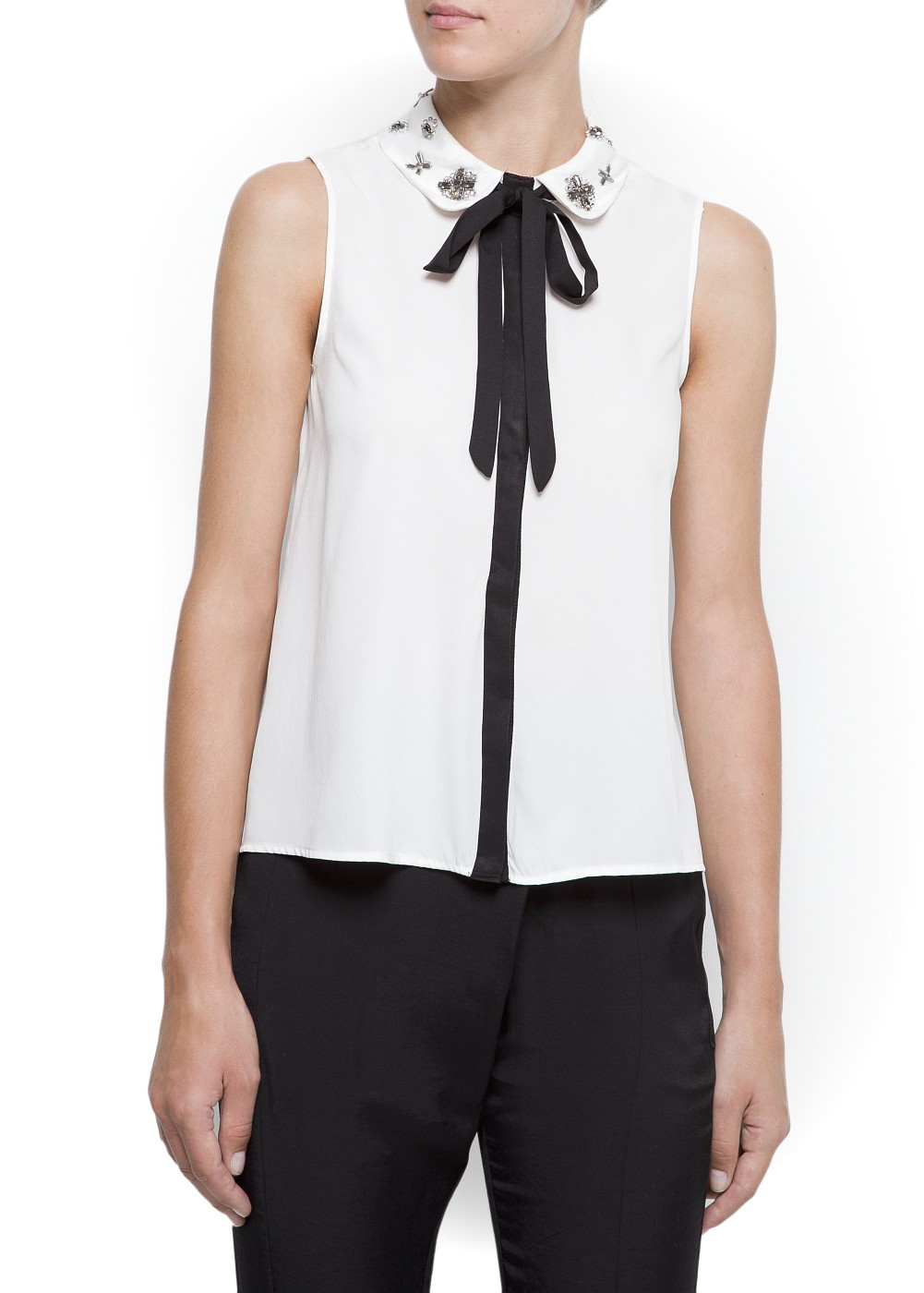 Top col claudine - Tops et t-shirts pour Femme | MANGO