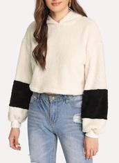 sweater,stuffed animal,girly,girl,girly wishlist,hoop earrings,fur,cropped,crop,cropped sweater