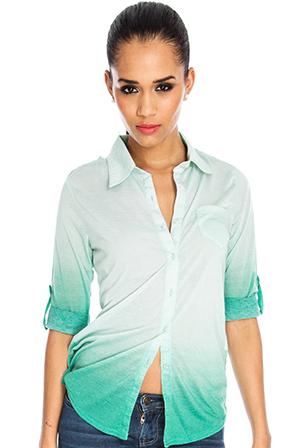 Dip Dye Jersey Grandad Shirt