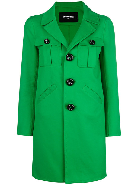 women spandex cotton green coat