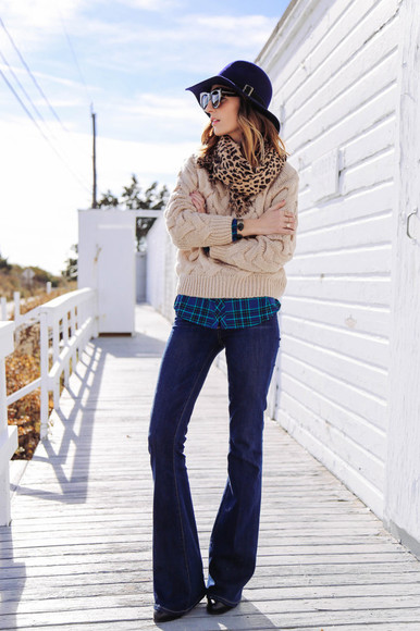 jeans scarf prosecco and plaid blogger sunglasses jacket hat flare animal print