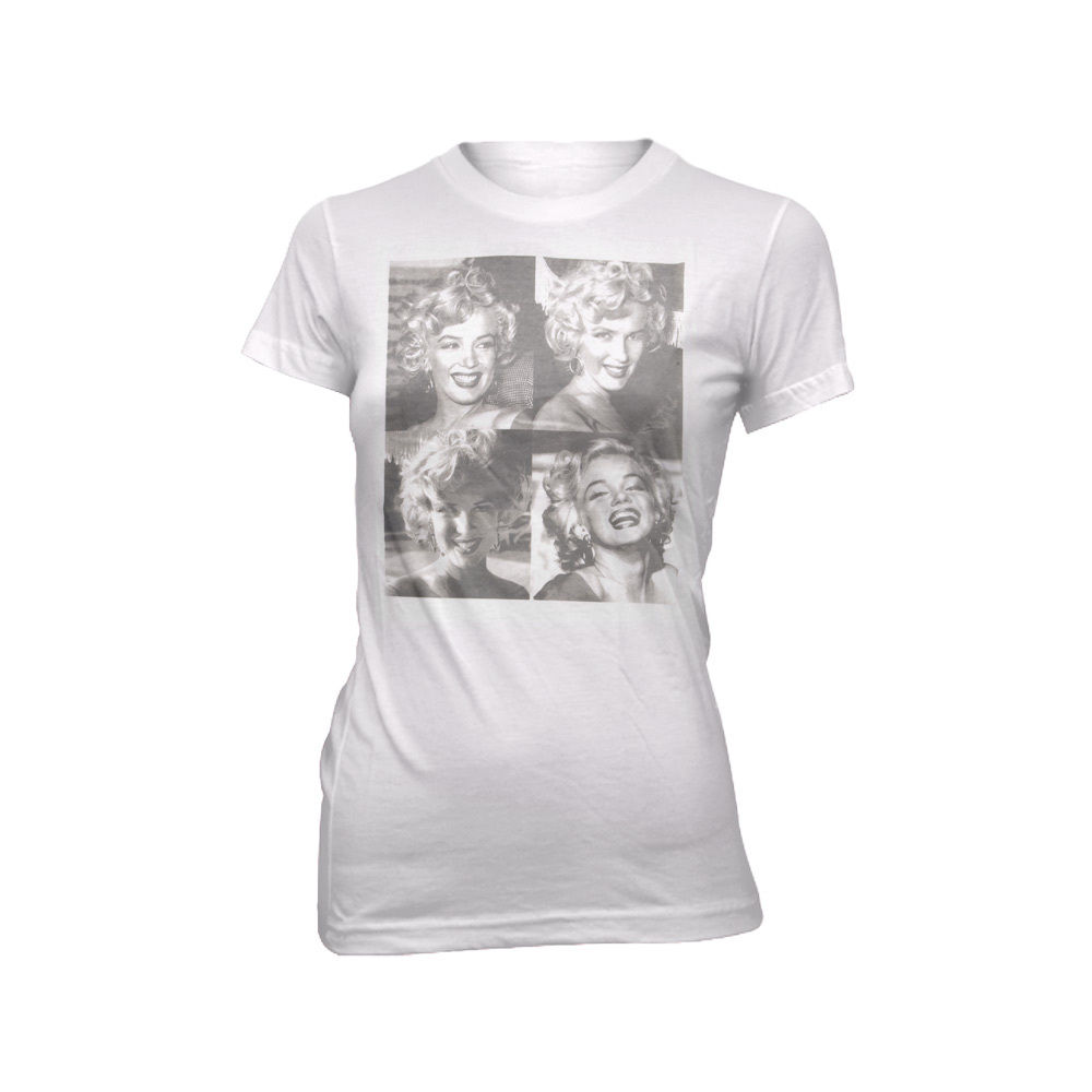 Marilyn Monroe Square Juniors White T Shirt | eBay
