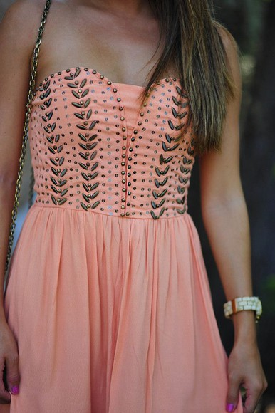 coral sweetheart dresses