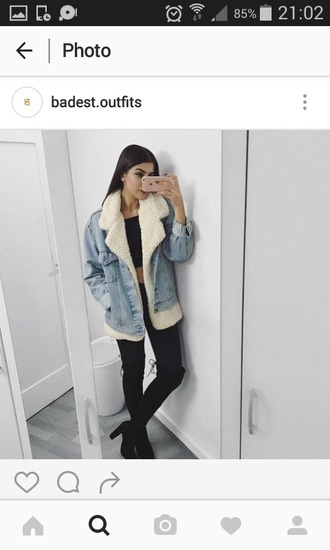 jacket jeans clear jean laine hiver snow winter outfits winter vest winter jacket instagram