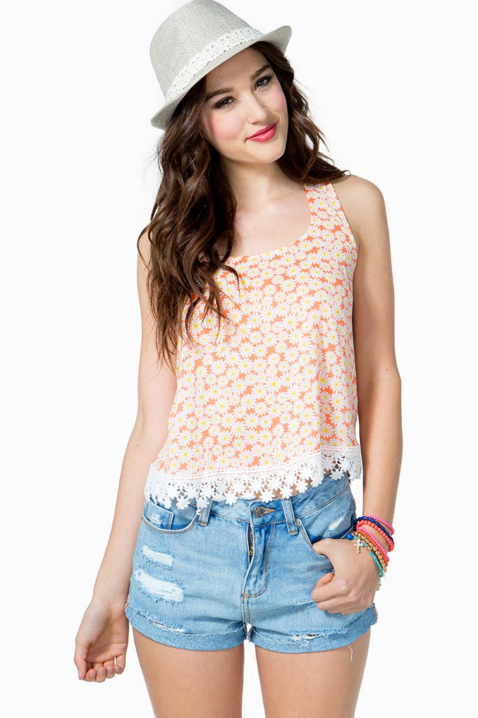 A'GACI Daisy Garden Tank - NEW SALE ITEMS