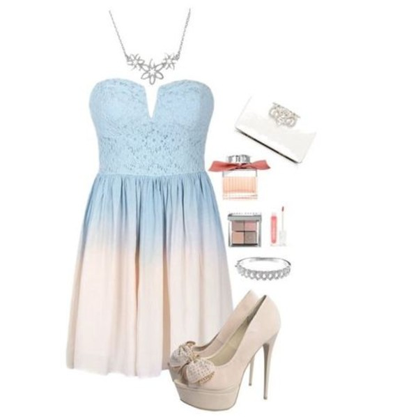 dress baby blue beautiful sexy shoes