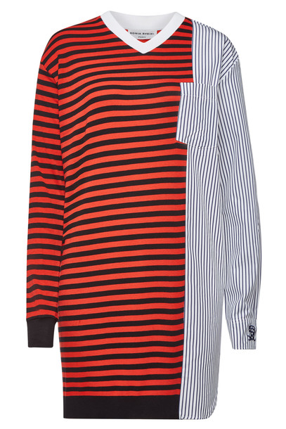 Sonia Rykiel Striped Mini Dress with Cotton
