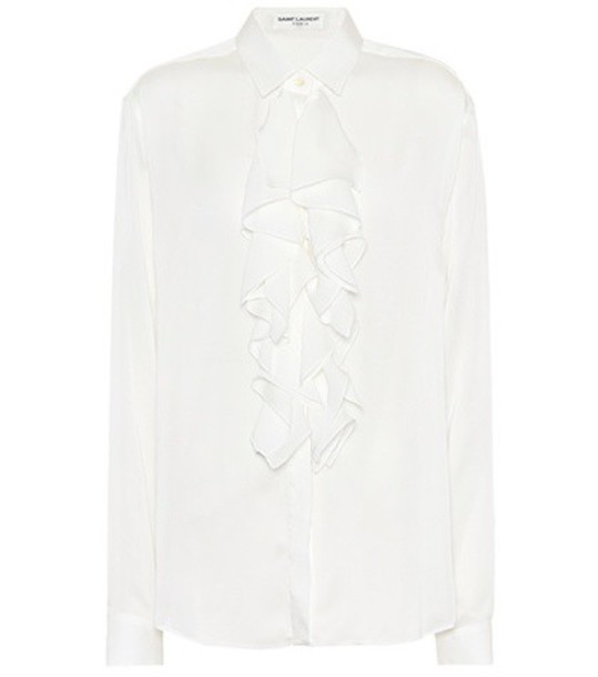 Saint Laurent shirt silk white top