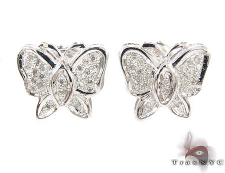 Prong Diamond Butterfly Earrings 32302
