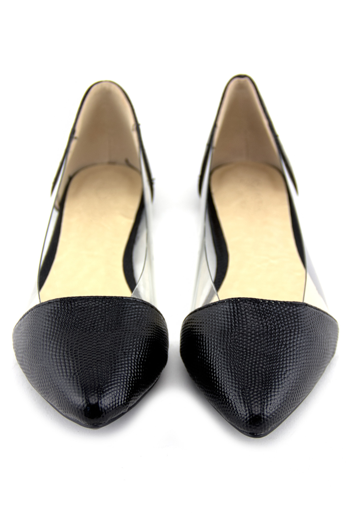 POINTY CLEAR CONTRAST FLAT | Haute & Rebellious