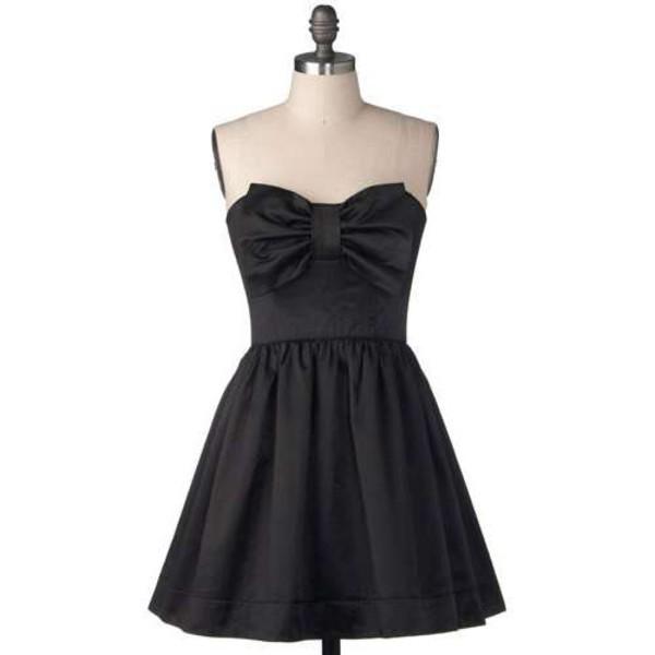 black black dress bows cute