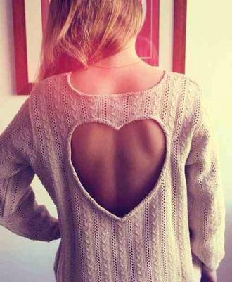 sweater jumper heart wool tumblr indie cute pretty wooly