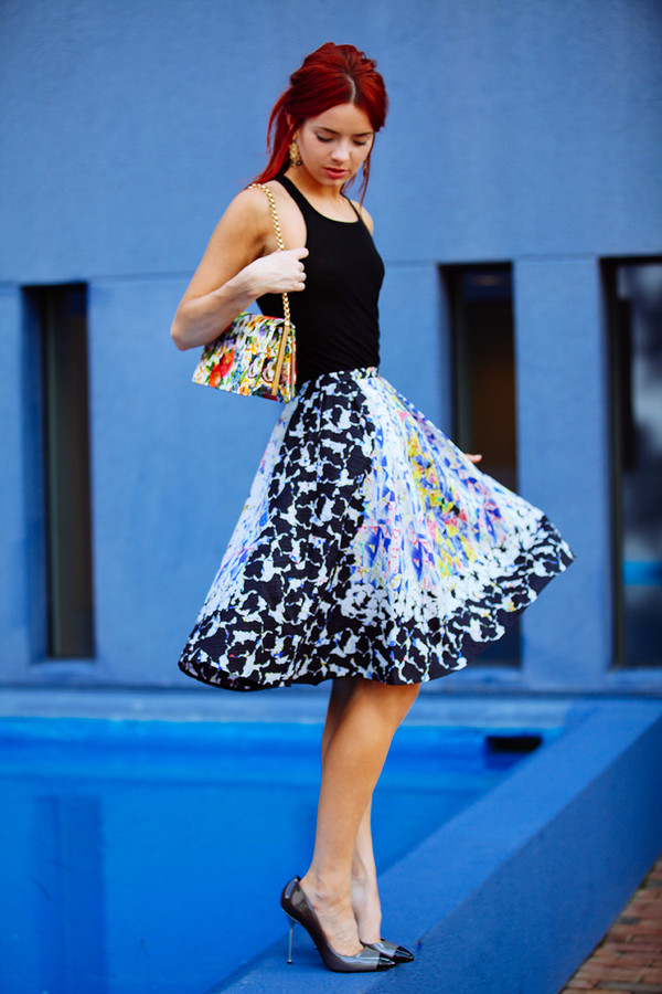 sea of shoes skirt bag jewels shoes peter pilotto