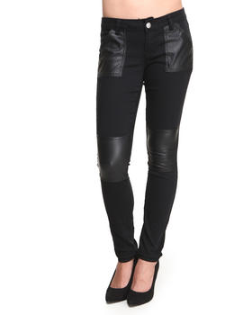 Buy Vegan Leather Patches Ottoman Pant Women's Bottoms from Baby Phat. Find Baby Phat fashions & more at DrJays.com