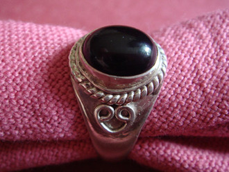 ring black jewels silver grey jewels silver ring
