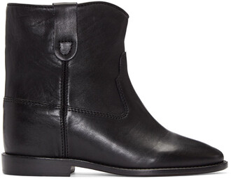 boots leather black black leather shoes