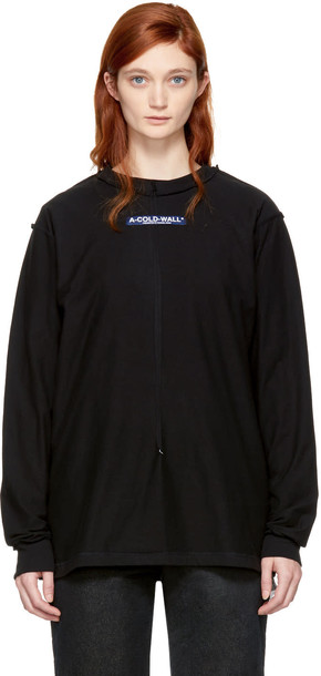 A-cold-wall* t-shirt shirt t-shirt long high black top