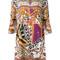 Roberto cavalli - printed dress - women - silk - 42, silk