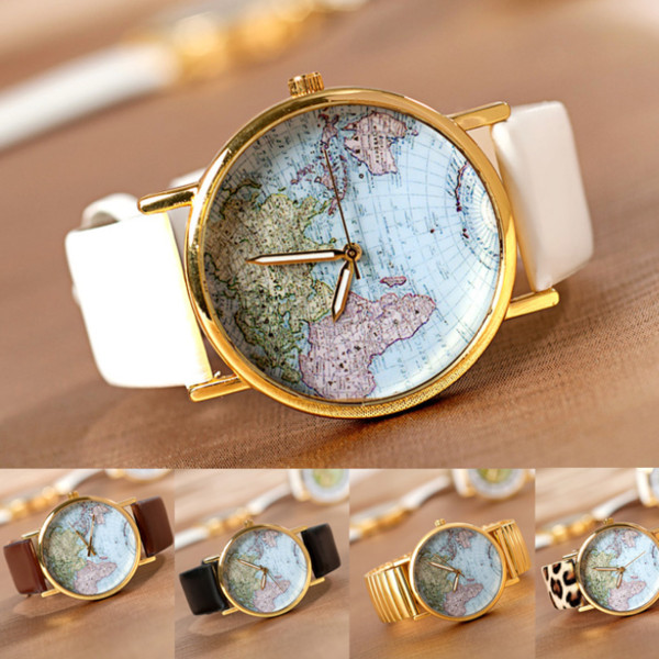 jewels map print watch map watch colors brand women watches cute watch world map watch