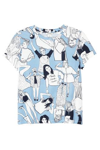 t-shirt blue tshirt graphic tee