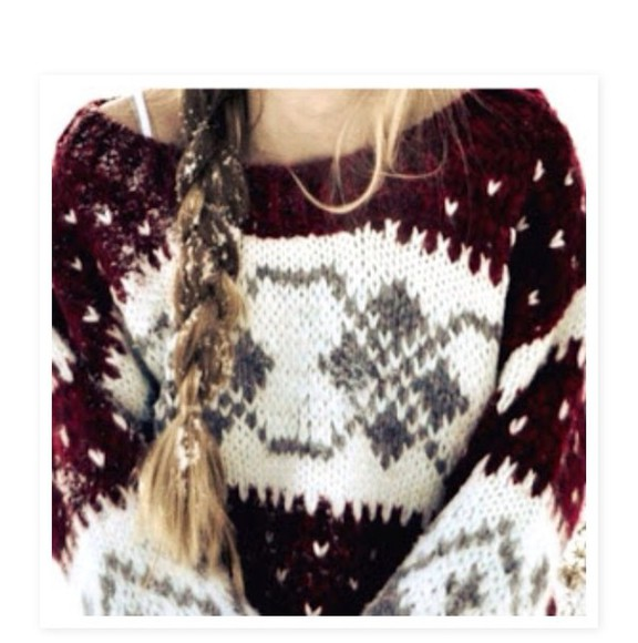 knitwear pattern christmas loose