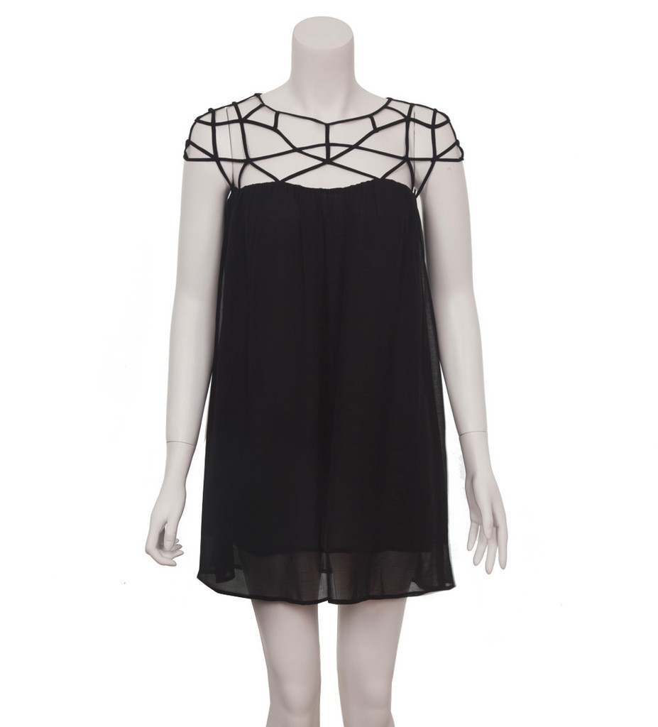Strappy Shoulder Dress - Party Dresses - Dresses - Clothing