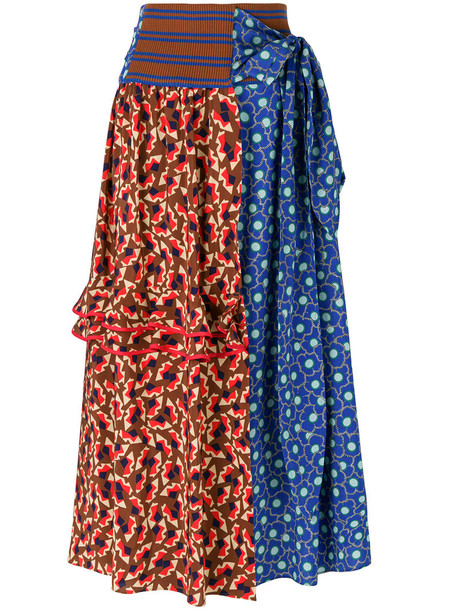 MARNI skirt printed skirt high waisted high women cotton silk