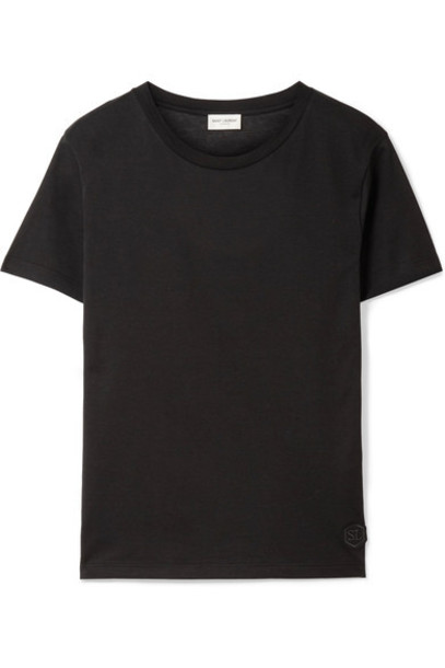 Saint Laurent t-shirt shirt t-shirt cotton black top