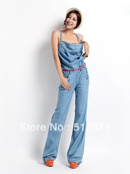 shipping Hot Sale 2013 New summer long maxi lady's Jeans Denim ...