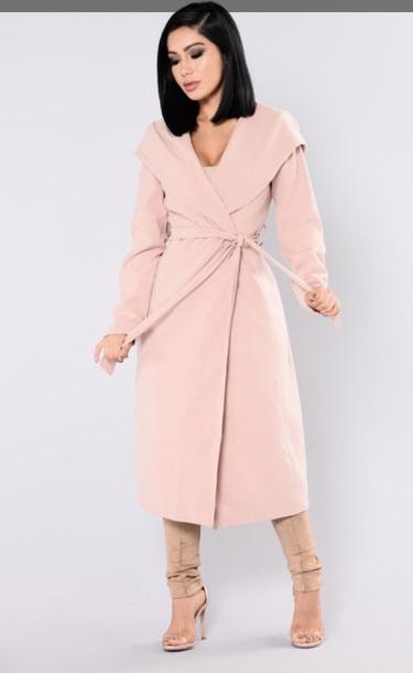 coat pink coat