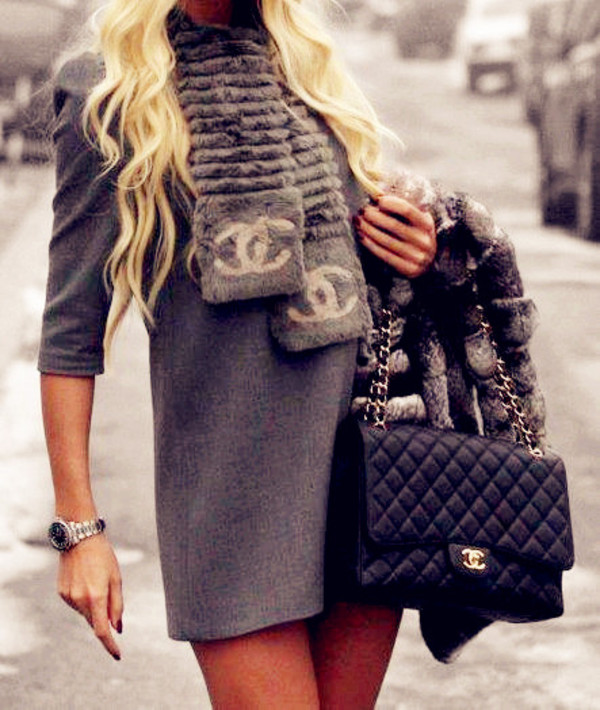 scarf chanel dress