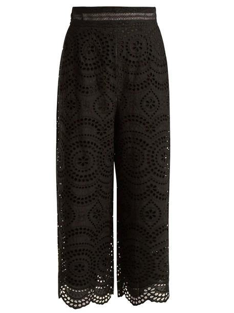 Zimmermann cropped cotton black pants