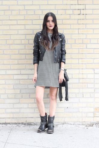 dress like jess blogger bag jacket dress shoes jewels nail polish make-up