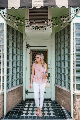 bows&sequins blogger top jeans bag shoes jewels sunglasses