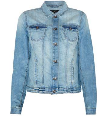 Tall light blue denim jacket