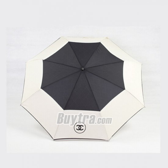 CHANEL UV umbrella for girls folding black and white umbrellas | Buytra.com