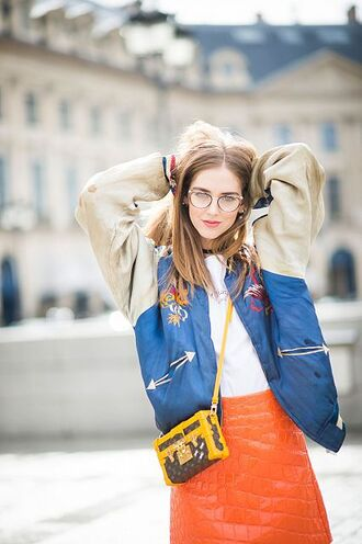 the blonde salad jewels chiara ferragni top blogger lifestyle necklace jewelry choker necklace fashion week 2016 paris fashion week 2016 black choker satin bomber mini bag louis vuitton bag quilted college jacket boxed bag