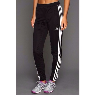 pants addidas pants black white sweatpants  adidas adidas three stripes black pants sports pants
