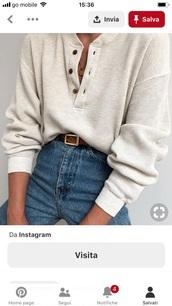 shirt,oatmeal,waffle knit,henley,button up,long sleeves,cream,white,long sleeve shirt,sweater,beige sweater