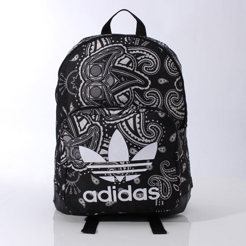 f6a14106e6 ADIDAS ORIGINALS PAISLEY BACKPACK AI4407 Black TREFOIL LOGO school bag  daypack