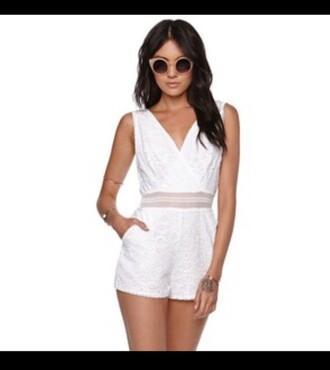 romper kendall and kylie jenner white lace romper