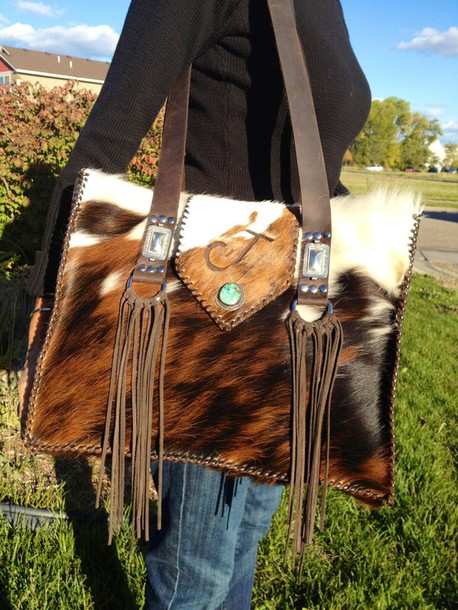 bag western style western chic western cowgirl cowhide bag cowhide purse boho sweater