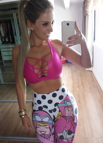 tank top top sportswear sports bra sexy pink underwear workout open front