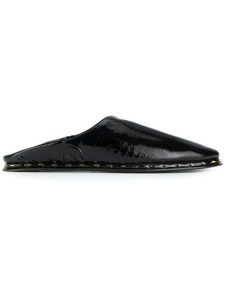 PALOMA BARCELÒ women mules leather black shoes