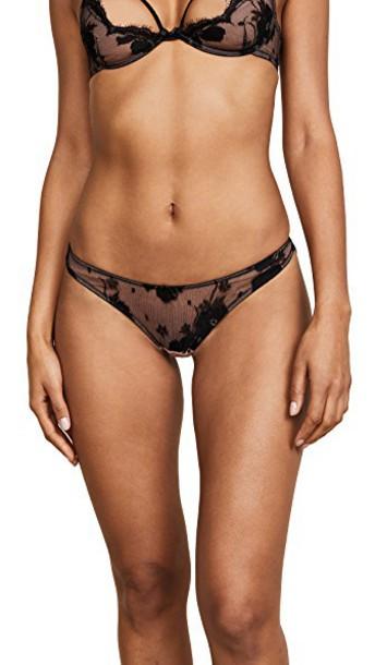 Fleur du Mal high lace black underwear