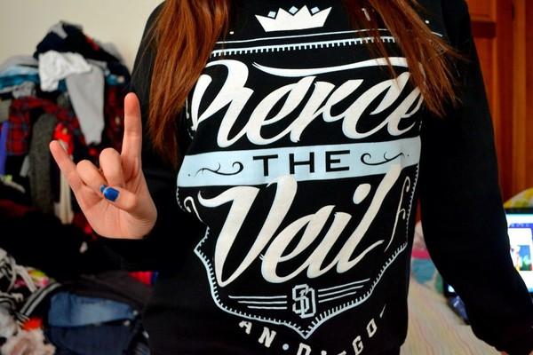 pierce the veil sweater black white