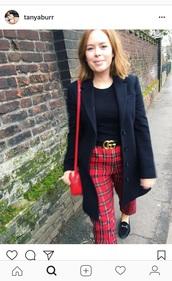 pants,tanya burr,red