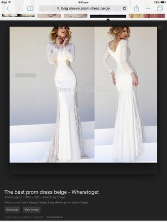 dress white dress beige dress prom dress long sleeve dress