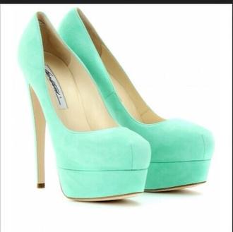 shoes mint green high heels pumps gorgeous